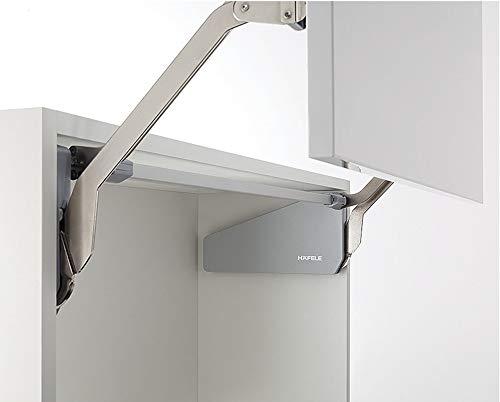 Frontliftbeschlag Küche Klappenbeschlag FREE UP für einteilige Klappen aus Holz | Liftbeschlag für Korpushöhe 380-500 mm | Klappengewicht: 3,4-6,7 kg | 1 Set - Klappenhalter für Küchen-Schränke