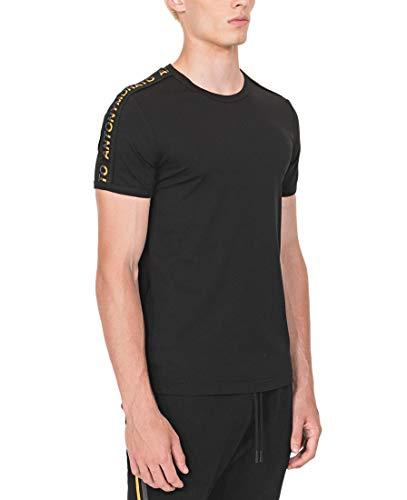 Antony Morato Camiseta Logo Tape Negro Hombre