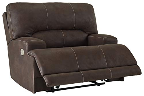Signature Design by Ashley Kitching Wide Seat Power Recliner Java