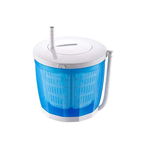TQMB Tragbare Waschmaschine, Mini-Waschmaschine, Wäschetrockner, 2,0 kg, halbautomatischer Einzelwannen-Wäschetrockner für Apartment, Hotel, Wohnheim,Blau