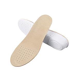 Healifty Par de Plantillas para Pie Plano Plantillas para Zapatos con Alzas Elevadora 1.5CM de PU Invisible para Mujer y Hombre Talla S