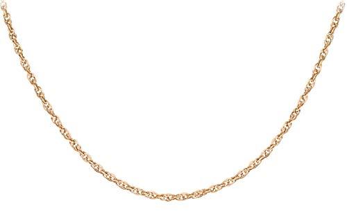 Carissima Gold Damen Hollow 1.7mm Diamantschliff Prinz von Wales Halskette 9k (375) Rotgold 51 cm/20 zoll 5.19.4305