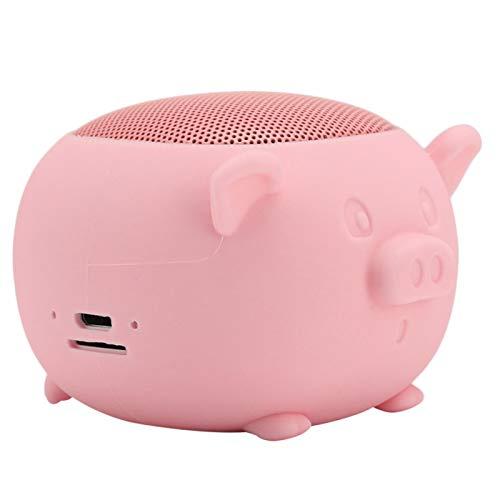 01 Altavoz estéreo Bluetooth, Altavoz, Altavoz inalámbrico, Micrófono portátil Incorporado para teléfonos móviles para Reproductores Multimedia Bluetooth(Pink)