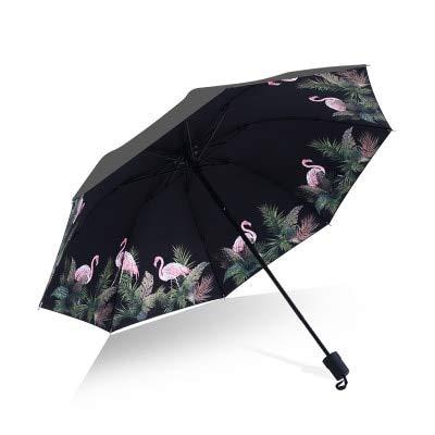 Mdsfe Paraguas Hombre lloviendo Mujer a Prueba de Viento Gran Flor 3D impresión Soleado Anti-Sol 3 Paraguas Plegable al Aire Libre - como Imagen, a1