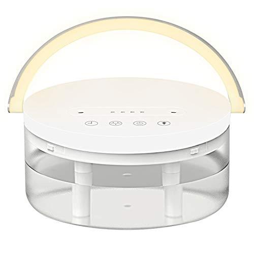 Humidificador de aire, humidificador de 1,2 l, ultrasónico con boquillas de vapor duales, ultrasilencioso, luz nocturna para casa, yoga, oficina, spa, dormitorio, apagado automático