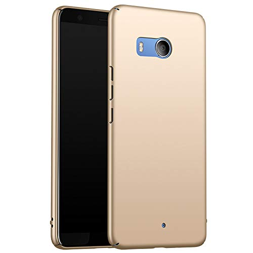 for HTC U11 Hülle, ZUERCONG [Matte Serie] Ultra Dünn Slim Cover Case Anti-Fingerabdrücke Anti-Scratch Shockproof Handytasche Hartplastik Schutzhülle für HTC U11, Glattes Gold