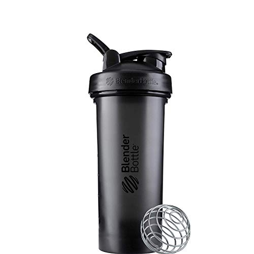 BlenderBottle Classic V2 Shaker Bottle, 28-Ounce, Black