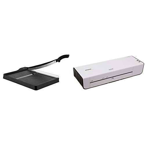 AmazonBasics Paper Trimmer - 12-Inch Blade, 10 Sheet Capacity & 9-Inch Thermal Laminator Machine
