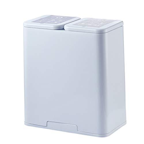 Push-Type Prullenbak Keuken, Huishoudelijke Plastic Afval Sorteren Bin Met Deksel Vuilnisbak Voor Living Room Toilet,Gray