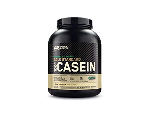Optimum Nutrition Gold Standard 100% Micellar Casein Protein Powder, Naturally Flavored French Vanilla, 4 Pound (Packaging May Vary)