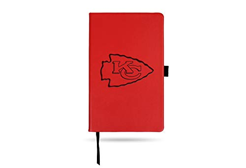 Rico Industries NFL Kansas City Chiefs Laser-Engraved Color Notepad, 5.25 x 8.25-inches