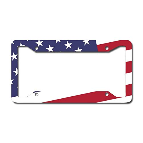Library design Your License Plate Frame Auto Truck Car Front Tag Personalized Metal License Plate Frame 6'x12'. American Flag Stars and Stripes