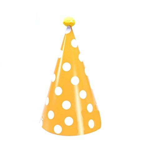 Blancho Fournitures 8Pcs d'anniversaire d'enfants Hat Party Yellow Hat Party