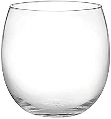 H&H Bubbly Set 6 Bicchieri Vino, Vetro Ultrasottile, 320 ml
