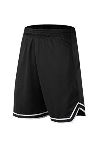 CKY - Pantalones cortos de baloncesto, transpirables, transpirables, para correr, para deportes al aire libre, fitness, pantalones cortos Pantalones cortos 8208, color negro XXXXL