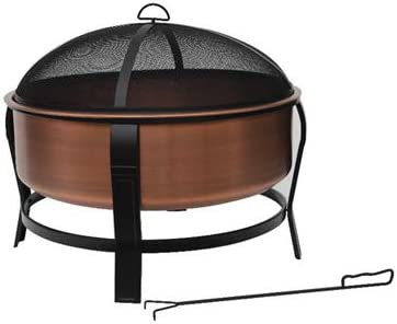 "Four Seasons Courtyard 30"" Copper Fire Pit – Best Stability"