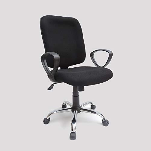 Traditionele bureaustoel met chroom onderstel