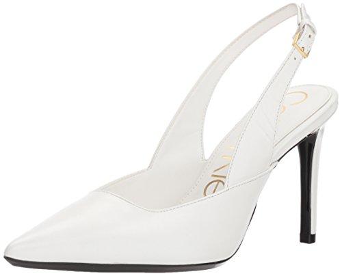 Calvin Klein Women's Rielle Pump, Platinum White, 10 Medium US