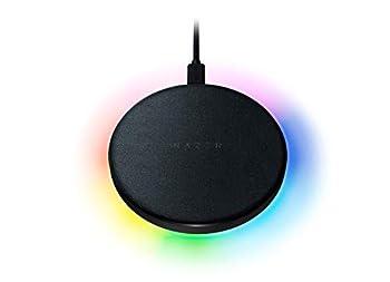 Razer Charging Pad Chroma 10W Fast Wireless Charger  Fast Wireless Charging - Powered by Razer Chroma RGB - Soft-Touch Rubber Top