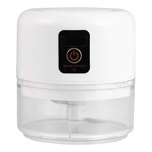 Hemoton Elektrischer Knoblauch-Chopper USB-Knoblauch-Press-Puncher-Brecher Mini-Ingwersaft-Schälmühle für Küchenrestaurant Weiß