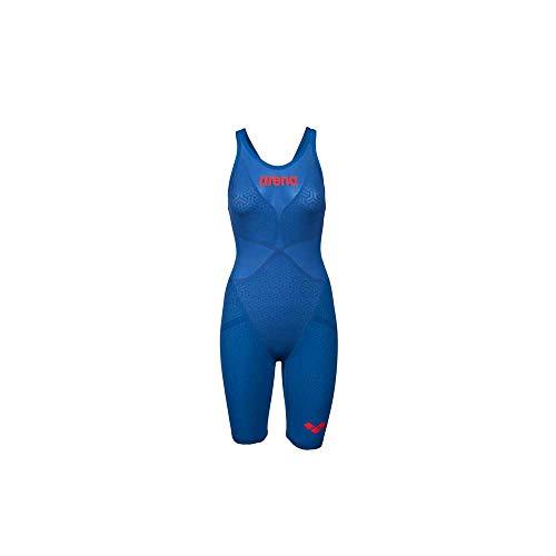ARENA - Costume da Gara Powerskin Carbon Glide vestibilità Posteriore Aperta Blu 32