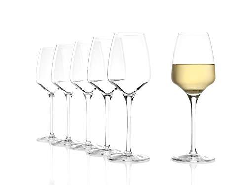 Stölzle Lausitz Weißweingläser Experience 285ml I Weißweingläser 6er Set I Weingläser spülmaschinenfest I Weißweingläser Set bruchsicher I wie mundgeblasen I höchste Qualität