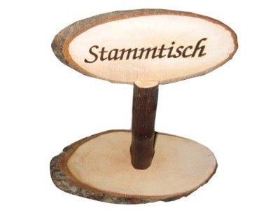 Stammtischaufsteller Stammtisch Holz, Höhe ca. 20-22 cm.