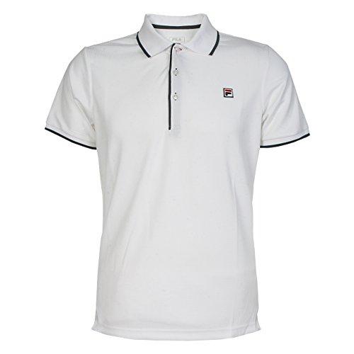 Fila Herren Tennisshirt Poloshirt Sportshirt Polo Parker weiß Gr. S