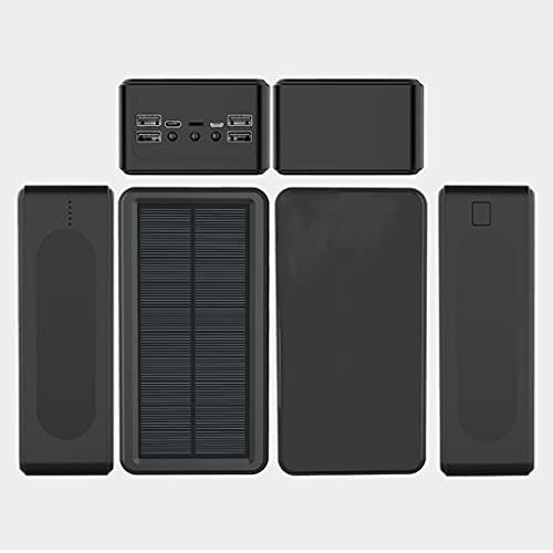PIANAI Cargador de energía solar/50000mAh Solar Power Bank/Power Bank Portátil/Elegante batería Externa/Power Bank Solar Carga Rápida/Ultra Capacidad Cargador Portátil Móvil,Negro,50000 mAh