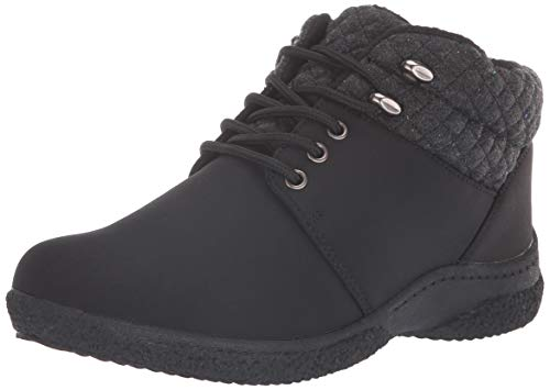 Propet Womens Madi Ankle Lace Cold Weather Bootie, Black 10 X-Wide