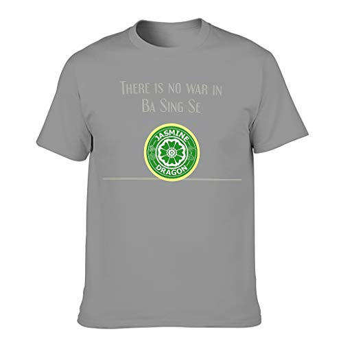 Jasmine Dragon Tea Shop Uncle Iroh Ba Sing Se Print Men's T-Shirt Short Sleeve Cotton Adult Active Tops - Grey - XXXXXXL