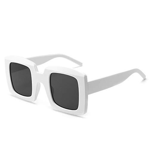 gafas de sol Hombres gafas de sol de diseñador retro leopardo cuadrado de los vidrios del ojo de la Mujer rectángulo de imagen máxima vidrios del conductor Gafas de Tendencia de lujo ( Color : G )