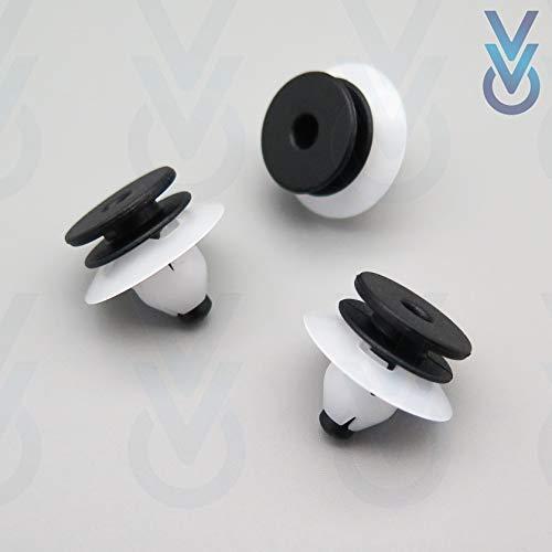 VVO Sujetadores de plástico para interior de pilar, color negro (paquete de 10)