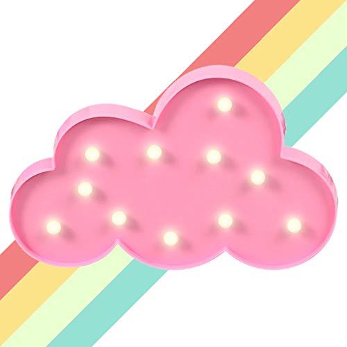 XIYUNTE Cloud Shaped Festzelt Lichter LED Nachtlichter, batteriebetriebene Wolkenlichter Kinderzimmer Dekor Tischlampen Dekorationen für Kinder Schlafzimmer, Geburtstagsfeier, Weihnachten