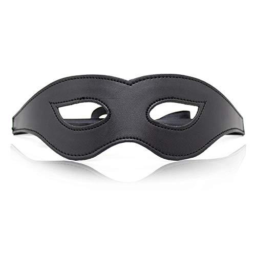 None Brand Sexy verstellbare PU-Leder-Augenmaske Sexy Augenmaske Schlafmaskerade Cat Eye Augenmaske Mystery Coslay Black