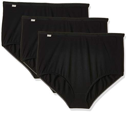 Playtex Damen Taillenslip Cherish Maxi Brief 3 Pack, Schwarz, Gr. 50 (22 UK)