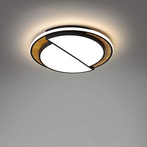 SWNN Lámpara de araña moderna minimalista de madera maciza, creativa, tamaño 52 cm x 6 cm, lámpara de araña, iluminación para café, bar, porche, restaurante, dormitorio, estudio, sala de estar