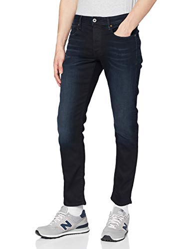 G-STAR RAW Herren Jeans 3301 Slim Fit, Authentic Faded Blue B631-A817, 33W / 28L