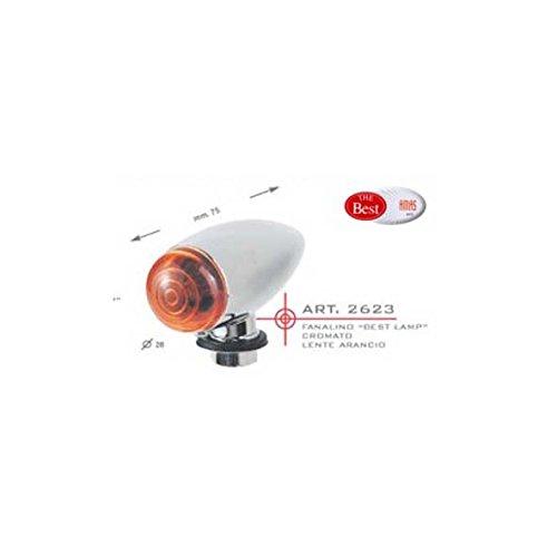 Best flecha Lamp cromado lente naranja