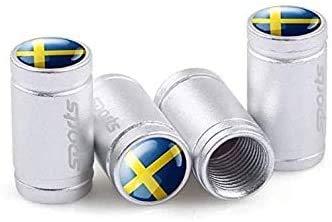 Acero Inoxidable Neumático Automóvil VáLvulas Tapas para Volvo V40 V50 V60 V70 S40 S60 S60L S70 S80 S90 Xc40 Xc60 Xc70 Xc80 Xc90, Anti Polvo Resistente Agua Accesorios