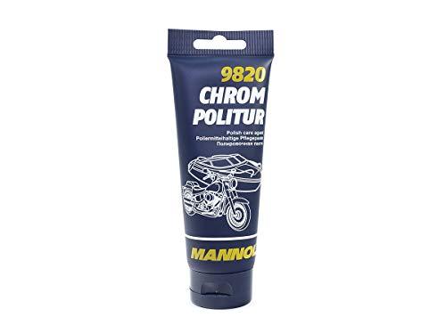 Preisvergleich Produktbild MANNOL 9820 CHROM POLITUR POLIERPASTE FÜR CHROM & EDELSTAHL FLUGROSTENTFERNER 100G