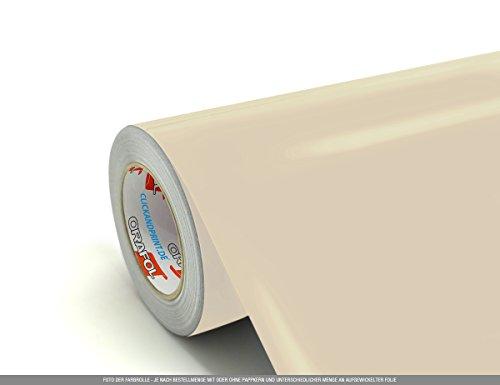 CLICKANDPRINT 3m Klebefolie, 50cm breit, Hellelfenbein » Schrankaufkleber/Spindaufkleber/Kleiderschrankaufkleber/Schranktüraufkleber/Küchenschrankaufkleber/Esszimmerschrankaufkleber/Unte.