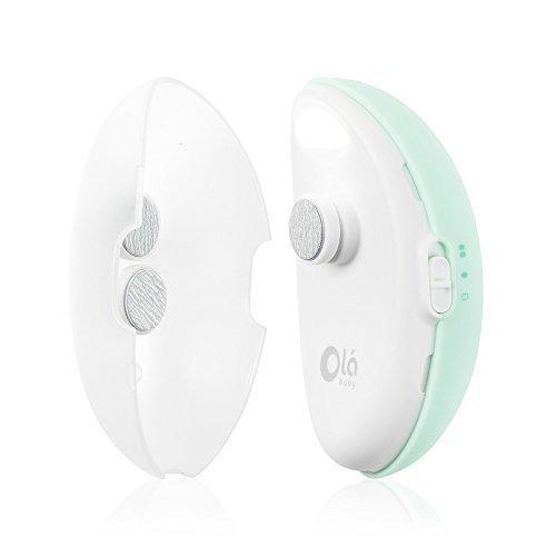 Trimmo Olababy - Lima de uñas para bebés electrica con luz led.