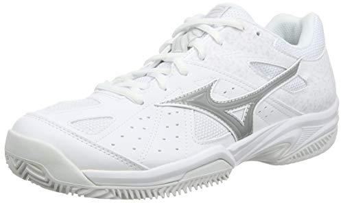 Mizuno Break Shot 2 CC, Chaussures de Tennis Femme, Blanc (WHT/Hrise/Nimbus Cloud 01), 39 EU