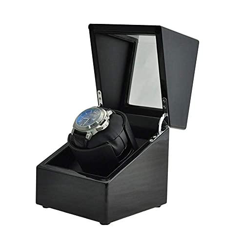 FFAN Caja de Reloj Caja de presentación automática de enrollador de Reloj Individual Motor japonés 1 Caja de bobinado de Reloj mecánico Caja de Almacenamiento de Madera Organizador, Reloj