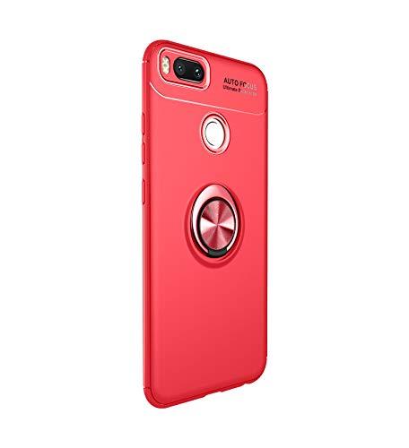 Funda Xiaomi Mi A1 Teléfono Móvil Silicona Bumper Case Funda con Anillo Giratorio de 360 Grados Rotaria Ring Holder Protectora Caso (1, Xiaomi Mi A1)