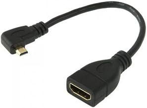 "Seadream 6"" 15CM 90 Degree Micro HDMI Right-Toward Male to HDMI Female Cable Adapter Connector (Right-Angle)"