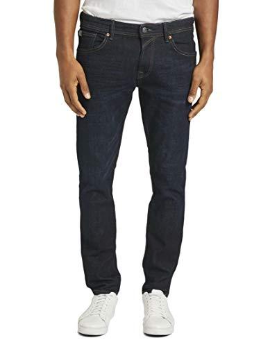 TOM TAILOR Denim Jeanshosen Aedan Straight Jeans Dark Blue Denim, 32/36