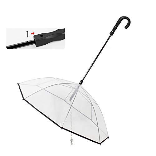 WU Paraguas para Mascotas Artefacto Equipo de Lluvia para Mascotas Suministros para Mascotas Encantadores Impermeable Gato Perro Paraguas
