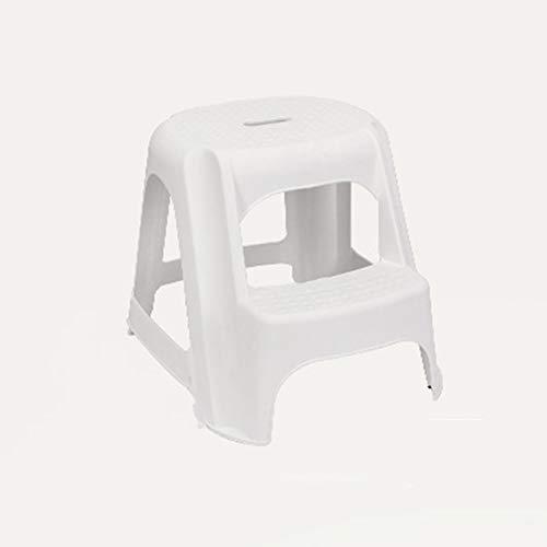 Étape Enfants Tabouret Step Ladder Tabouret Multifonction 2 Couche Portable Antidérapante Thicken Repose-pieds Écologique PP Matériau Plastique Escabeau (Color : White)